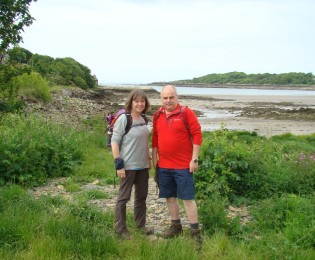 A couple on a tailored  walking holidays